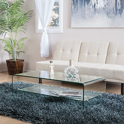 Charlize Glass Coffee Table - Acrylic Clear Table Coffee