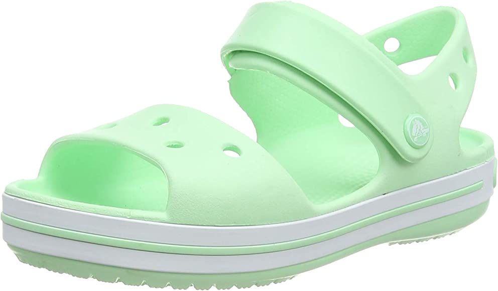 Crocs Boys Crocband Slip On Molded Croslite Anklestrap Sandals Navy