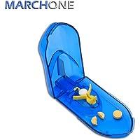 MARCHONE Coupe-Comprimé Coupe Medicaments avec lame Boîte de Pilule en Boîte de séparateur de comprimé-Bleu