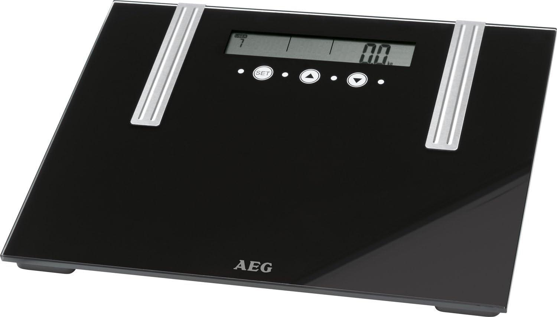 AEG PW 5571 - Báscula baño de análisis corporal de 6 funciones, de cristal y acero inoxidable