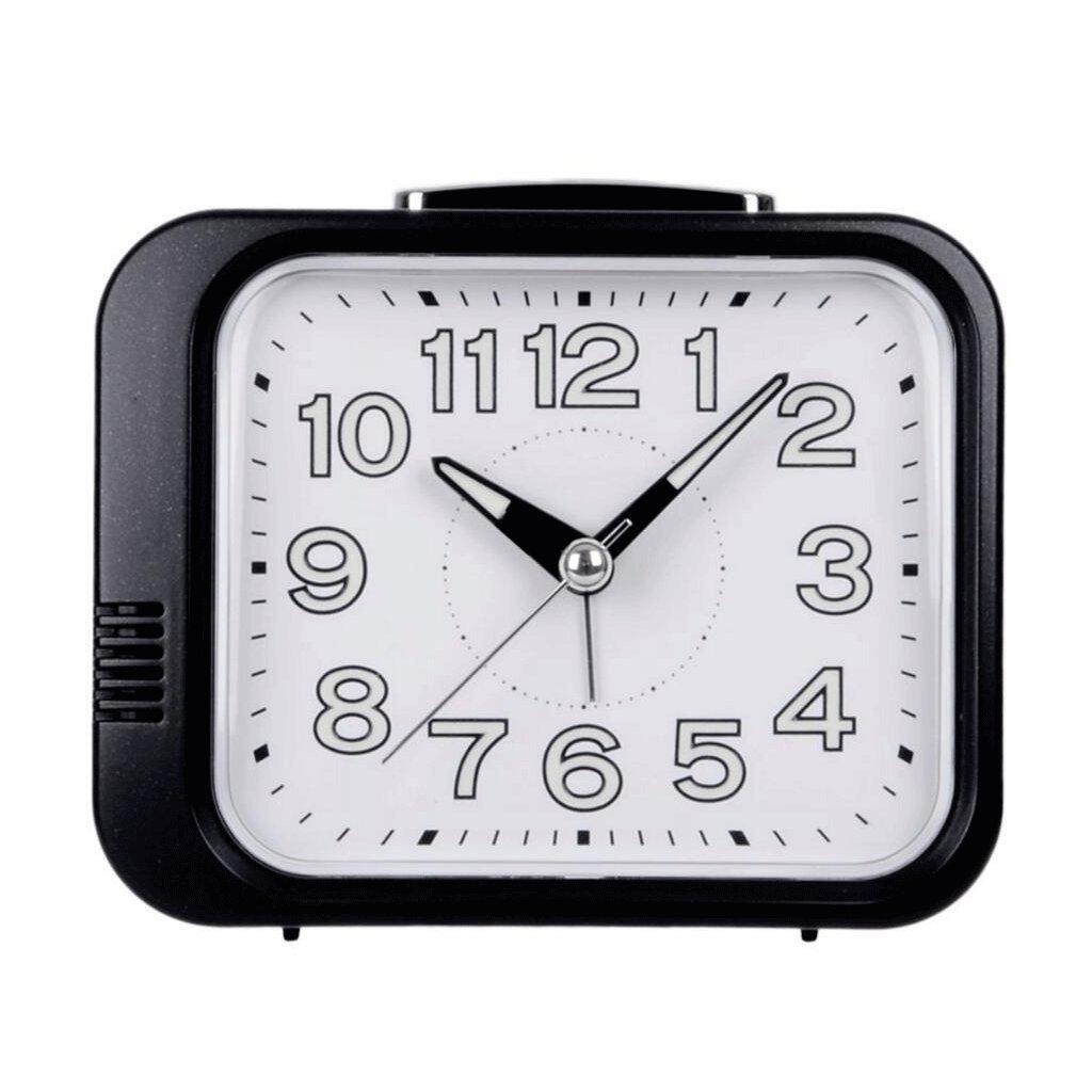 ZLR ミュートルミナスクロックベッドルームベッドサイドクォーツ時計目覚まし時計 ( 色 : ブラック ) B07BN9Y1JD ブラック ブラック
