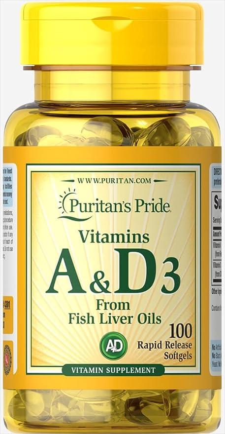 Vitamina A (5000 IU)  & D (400 IU) 100 cápsulas. 1