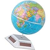 MagiDeal Solar Powered Self Rotating World Globe Geography Atlas Toy Desk Ornament
