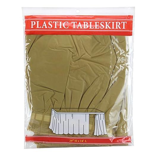 Tigerchef falda de mesa de plástico de 35,5 x 73,6 cm de largo ...