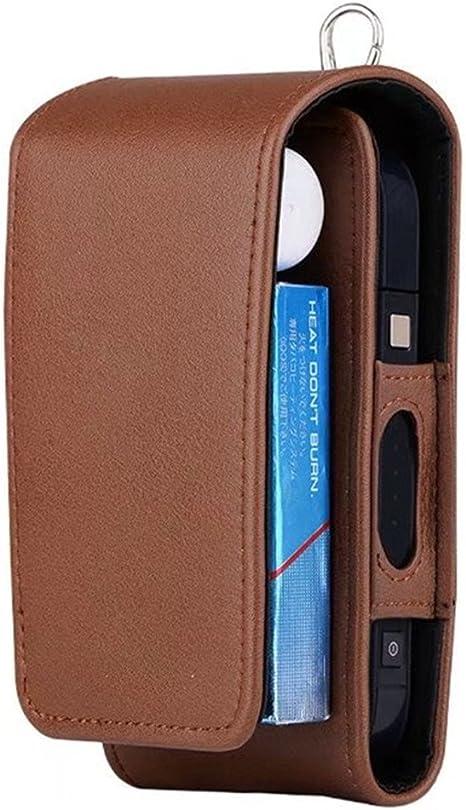 iQOS Estuche protector para cigarrillo electrónico, de piel sintética, incluye caja y soporte de tarjetas, Marrón: Amazon.es: Deportes y aire libre