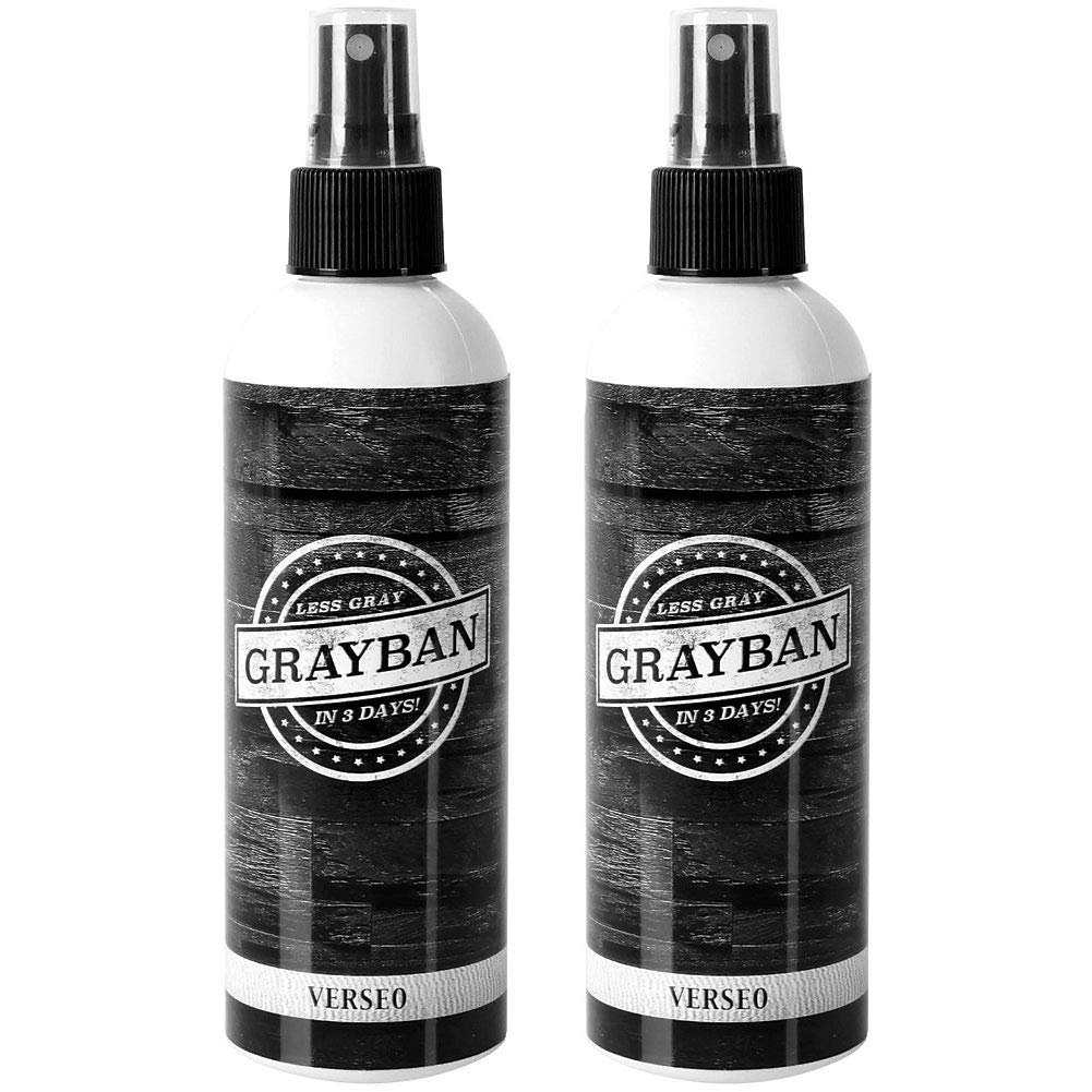 (Set/2) Grayban Formula - Restore Your Natural Hair Color Without The Mess - 8 Ounce