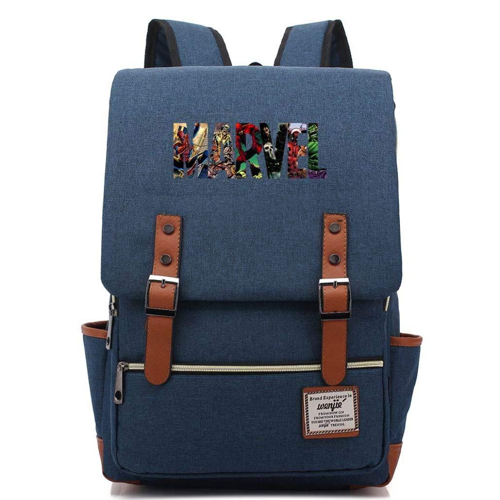 Multicolor The Avengers Boy Girl Student School Bag Teenagers Canvas Women Bagpack Men Backpack(16) by eleganceoo