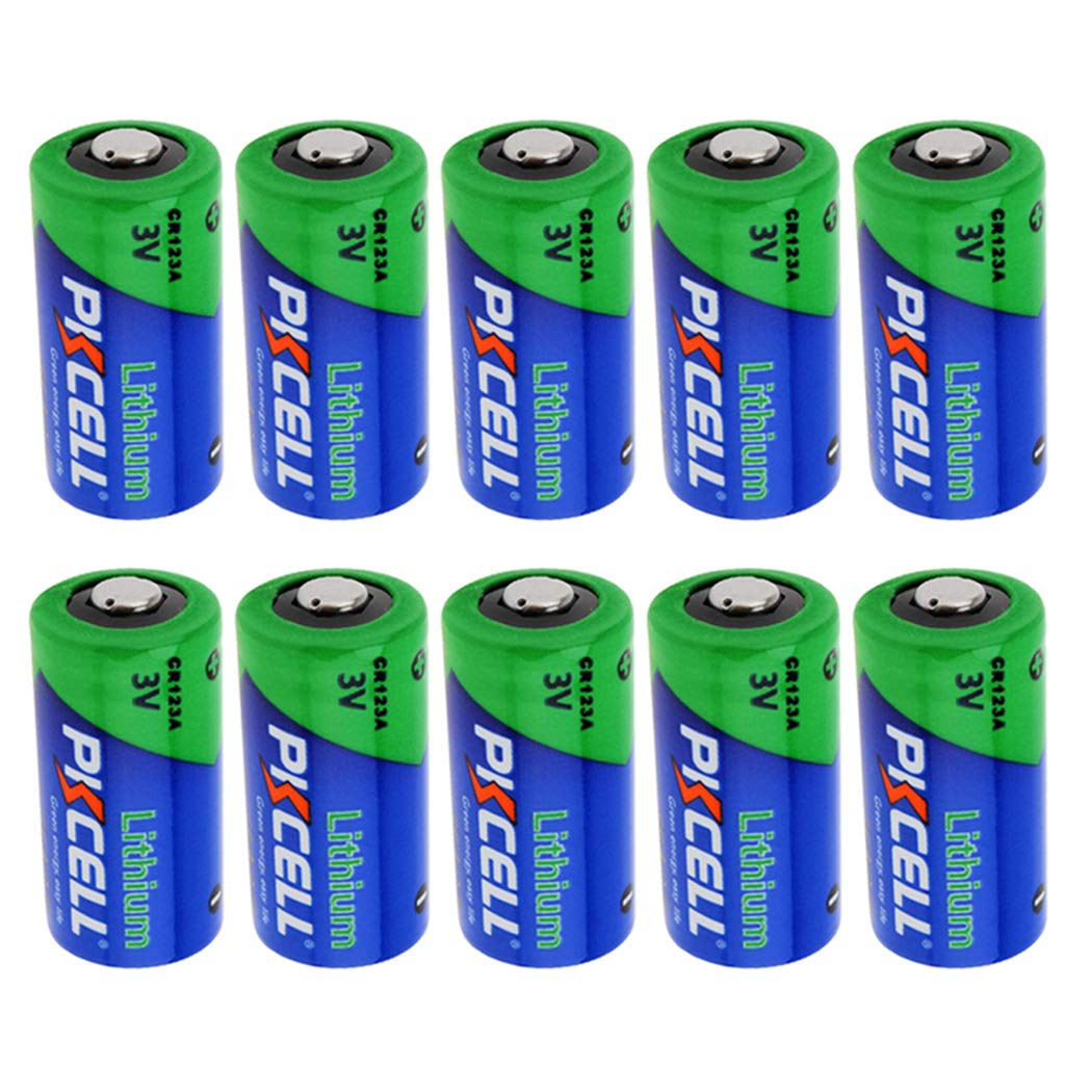 3V CR123A 123A CR17345 1500mah Lithium Batteries 10Pcs