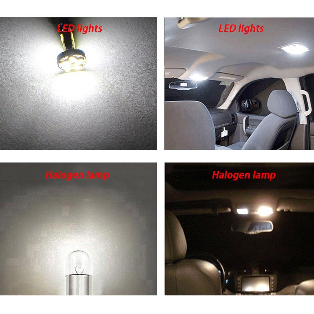 TABEN 4pcs Canbus BA9s LED Bulb 15 SMD 4014 Chipset BA9S H6W T4W Parking Light Backup Reversing Side Light Bulb Error Free White Light Bulb 12V