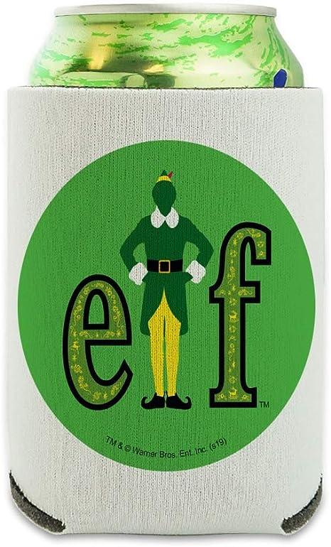 Elf Snow Globed Can Cooler Drink Sleeve Hugger Collapsible Insulator Beverage Insulated Holder