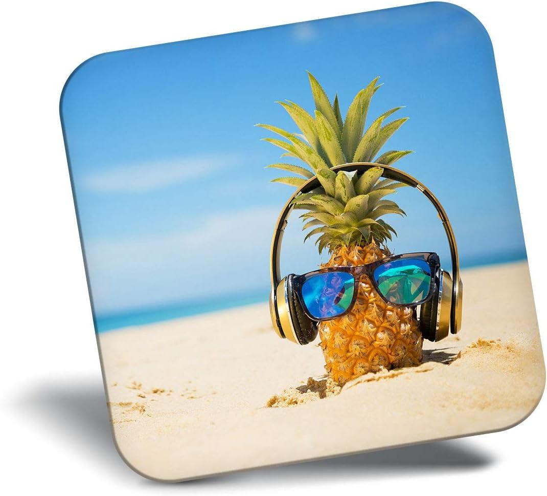 Destination Vinyl ltd Awesome Fridge Magnet - DJ Pineapple Beach Summer 12439