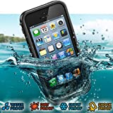 Super Quality Ultra-slim Design Waterproof / Snow-proof / Dirt-proof / Shock-proof Protective Case for iPhone 5 (Water-proof Depth: 2m) (Black)