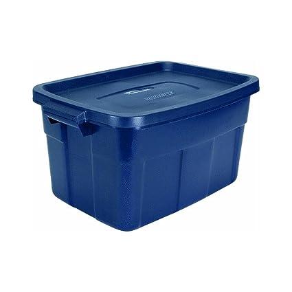 Great Rubbermaid Roughneck Tote Storage Container, Dark Indigo Metallic,  14 Gallon (FG2212CPDIM)