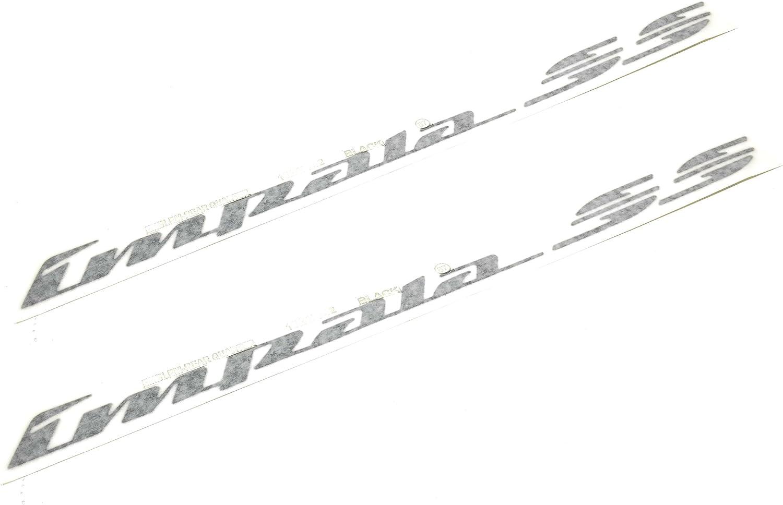 Impala SS~Black~Pair Of Quarter Panel Emblems~94-96~10248742~1//4~Left~Right~OEM~