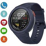 Amazfit Verge スマートウォッチ 腕時計女性男性電話として通話可能 11種スポーツモード 5日連続使用可 1.3インチAMOLEDスクリーン (blue-verge)
