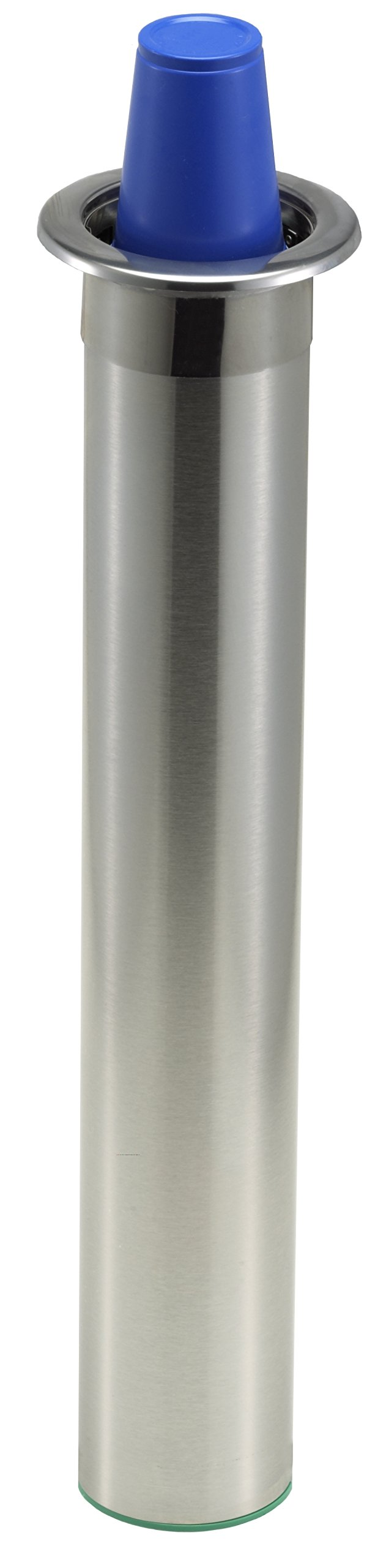 San Jamar C3200C Stainless Steel In-Counter Mount Beverage Horizontal Cup Dispenser, Fits 6oz to 10oz Cup Size, 2-7/32'' to 3-3/16'' Rim, 23-1/2'' Tube Length