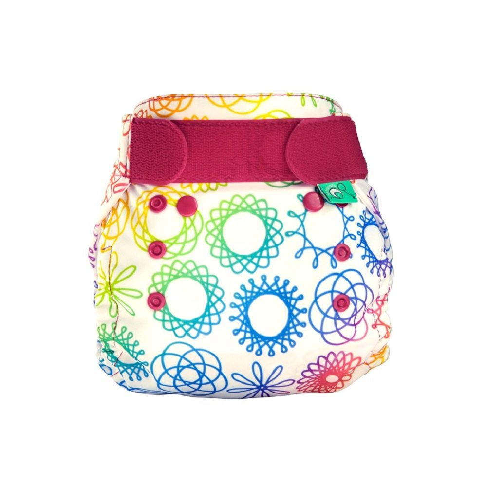 TotsBots PeeNut Doodlebum Reusable Washable Waterproof Wrap Size 2, 9 to 35lbs, for use with Bamboozle Nappies Tots Bots Limited PeeNut Wrap DOODLEBUM