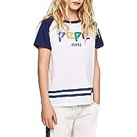 Pepe Jeans- Camiseta PB502364 Don 802 Optic White- Camiseta NIÑO Manga Corta