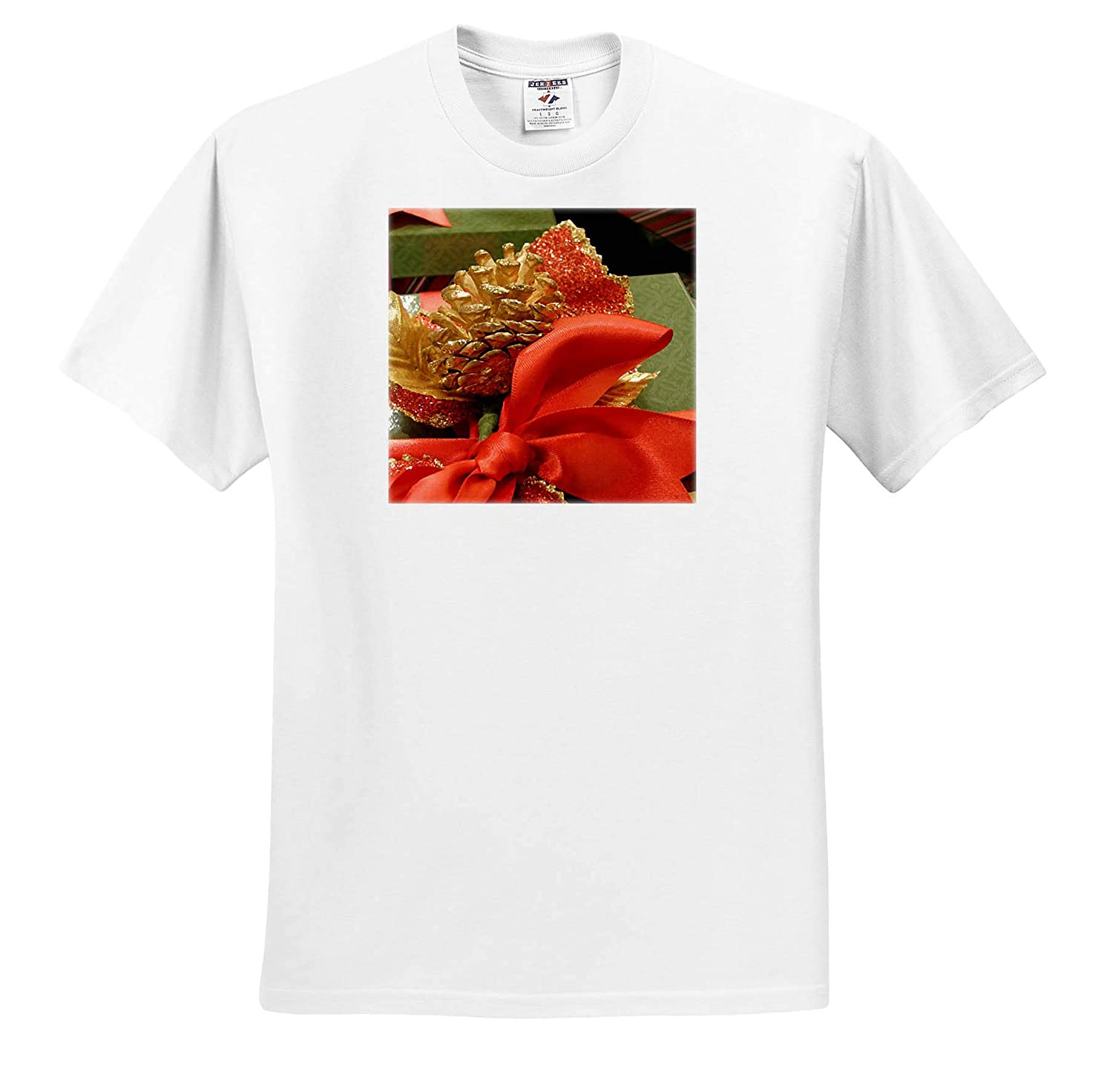 Red and Green Digital Painting T-Shirts 3dRose Cassie Peters Christmas