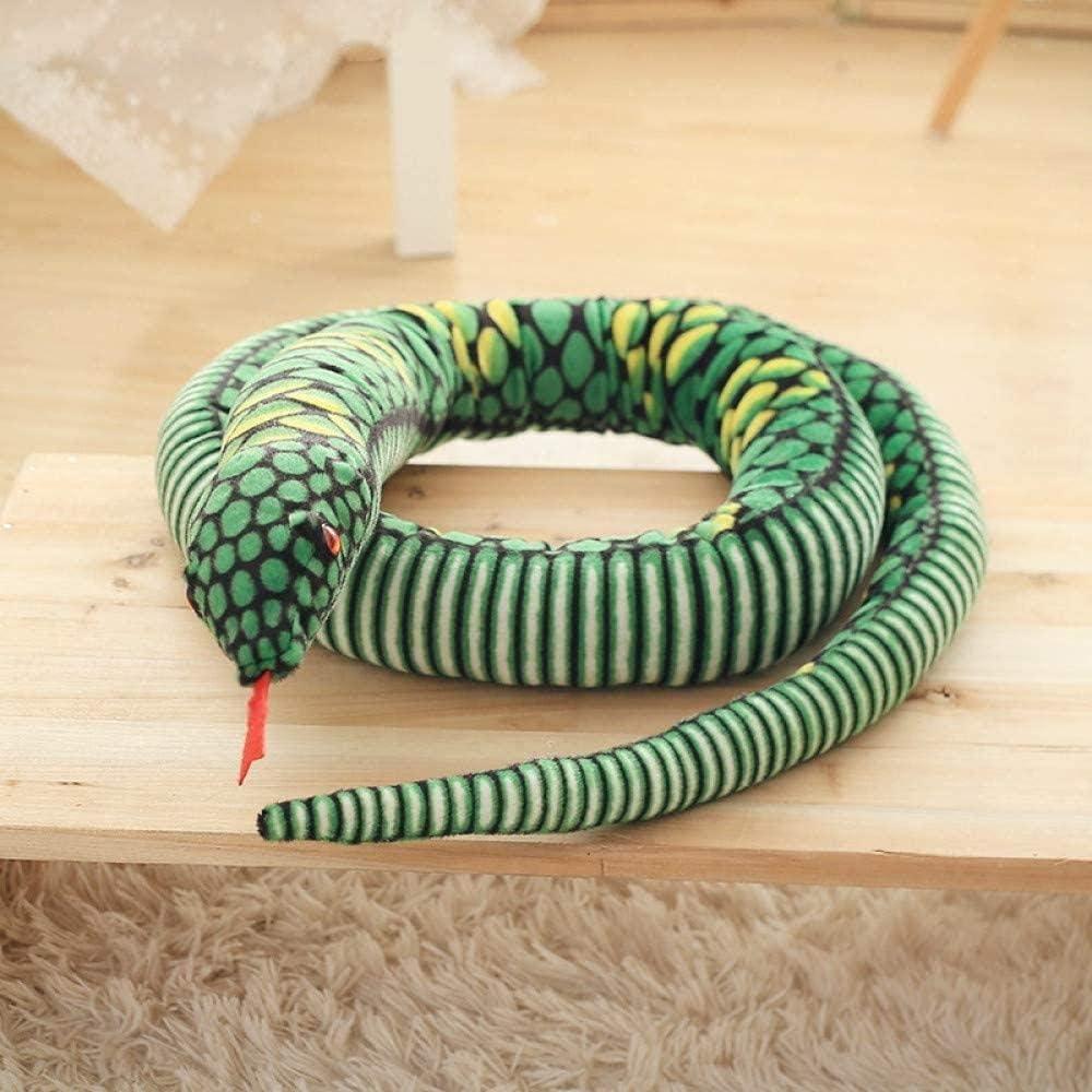 NC88 Juguete de Peluche de Serpiente de Juguete de 280 cm, pitón Gigante Realista, decoración del hogar, Parodia para Mascotas, niños
