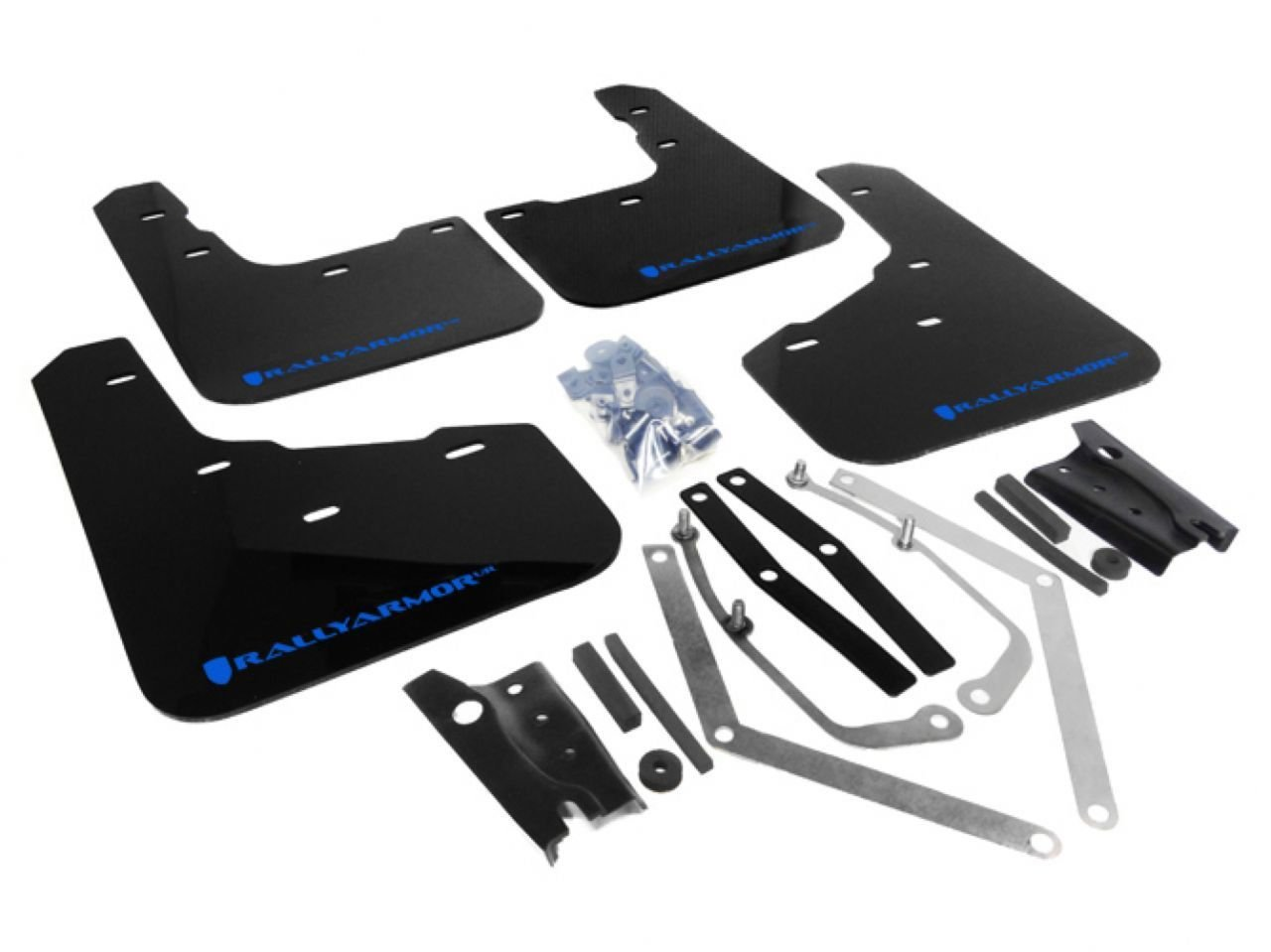 Blue Mud Flap with Logo 13+ Ford Fiesta ST Rally Armor MF29-UR-BLK//BL Black