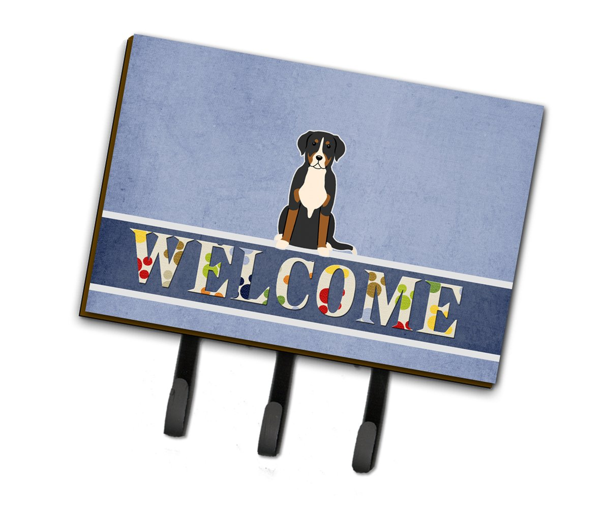 Multicolor Triple Carolines Treasures BB5618TH68 Greater Swiss Mountain Dog Welcome Leash or Key Holder
