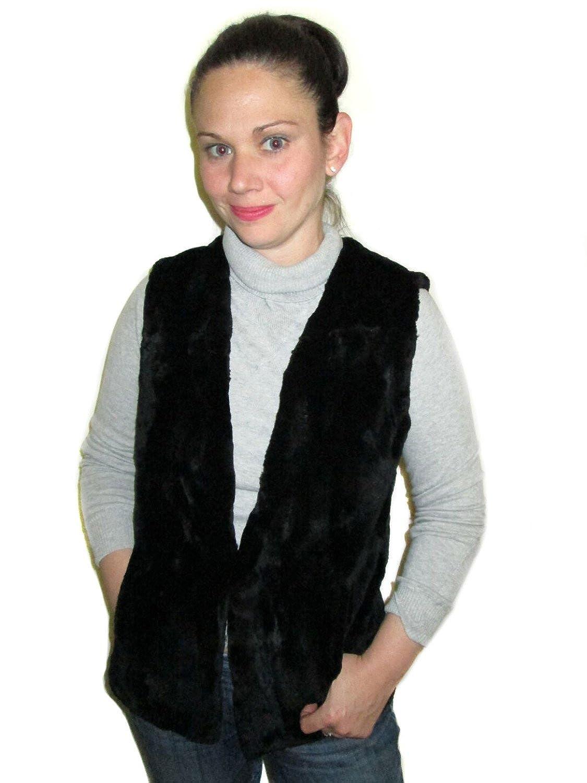 FursNewYork 25 Sculptured Sheared Beaver Full Skin Fur Vest