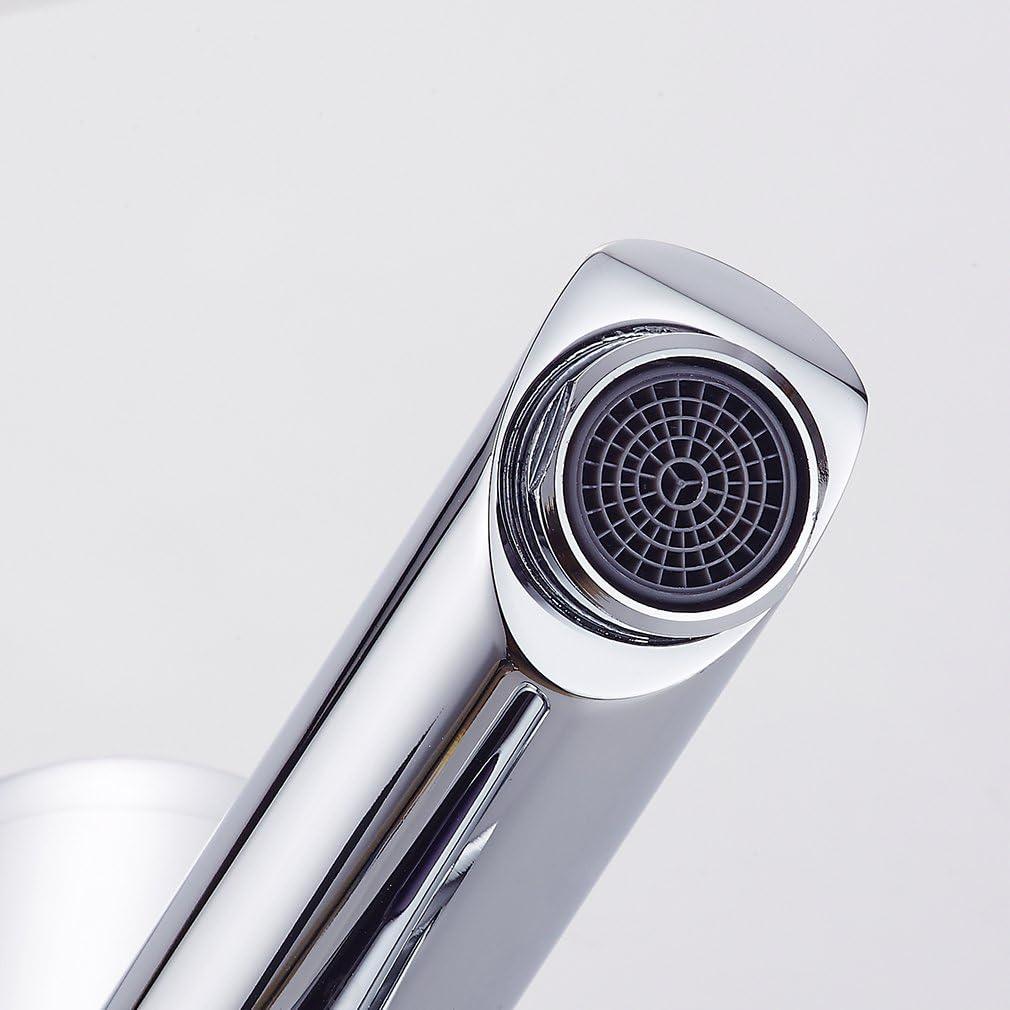 Auralum - Grifos con Sensor Automático Electrónico Mezclador Grifo de Lavabo con Sensor para Agua Caliente y Fría para Baño - Altura Total de 182mm: Amazon.es: Bricolaje y herramientas