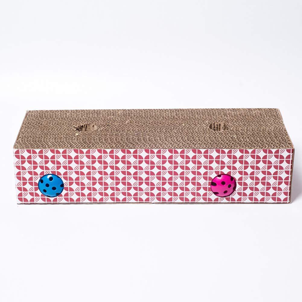 Cat Scratch Board, Pet Grinding Paw Pattern Corrugated Paper Cat Sharpener, with Catnip