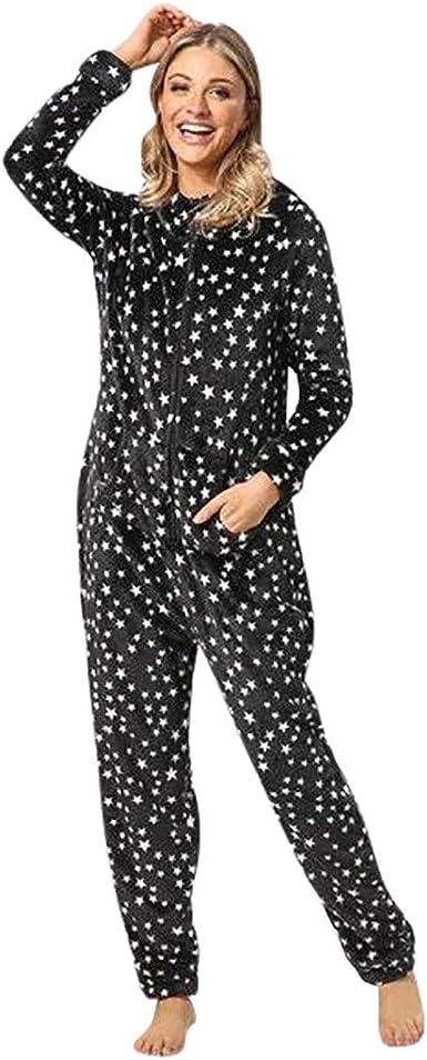 LAND-FOX Mono Pijama de Mujer,Damas para Mujer Onesie Todo en ...