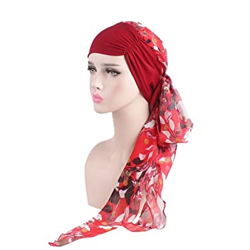 moonuy Bohemia mujeres musulmán Stretch turbante sombrero Chemo Cap pérdida de cabello bufanda cabeza wrap hijab