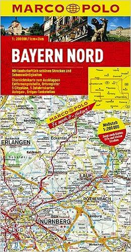 MPK D12 Bayern Nord Marco Polo 1:200.000: Amazon.es: Polo Marco ...