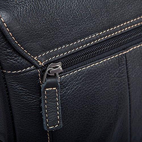 Bolso de cuero del hombro de la cruz de los hombres Estilo ocasional del bolso del mensajero Brown