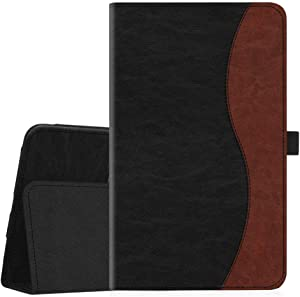 Fintie Folio Case for Samsung Galaxy Tab A 8.0 2018 Model SM-T387, Slim Fit Premium Vegan Leather Stand Cover, Dual Color
