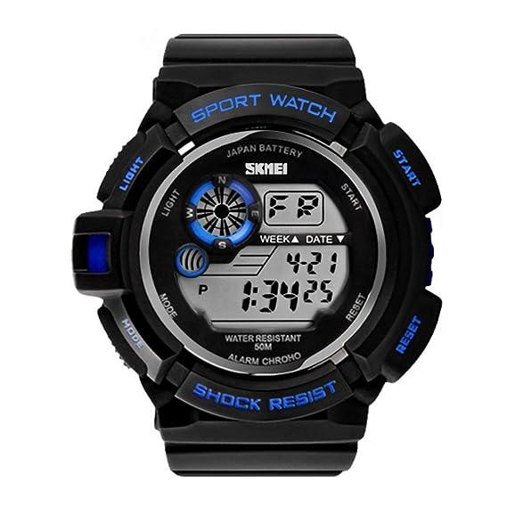 Alpes Hombres de lujo del LED Digital Deporte Cronógrafo Multi Función aterproof genuino relojes (azul