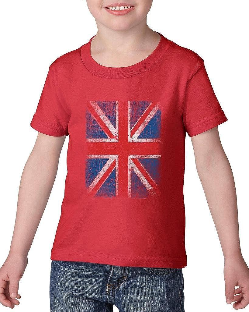 Xekia Union Jack British Flag United Kingdom Flag Toddler Kids T-Shirt Tee