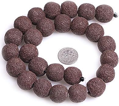 90186590-746 18x13mm Coffee Volcanic Basaltic Lava Gemstone Oval 18x13mm Loose Beads 16 inch Full Strand