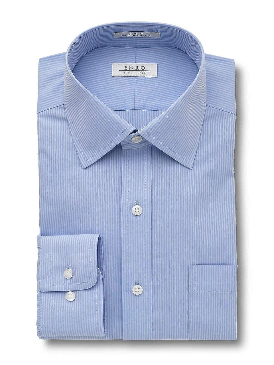 Enro Big /& Tall Non Iron Carlton Stripe Dress Shirt