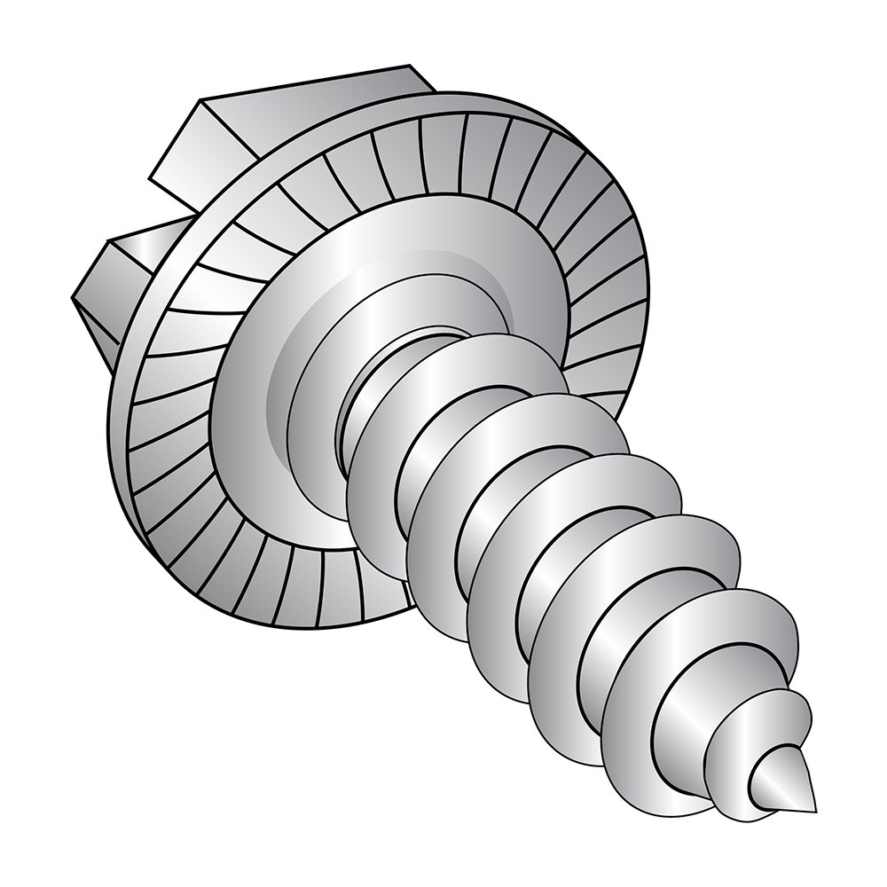 #8-18 Thread Size Plain Finish 18-8 Stainless Steel Sheet Metal Screw Small Parts 0810ABW188 5//8 Length Type AB Hex Drive Pack of 50 5//8 Length Pack of 50 Hex Washer Head