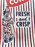 "Clown Popcorn Bag 3.75"" x 1.75"" x 8"" Vintage"