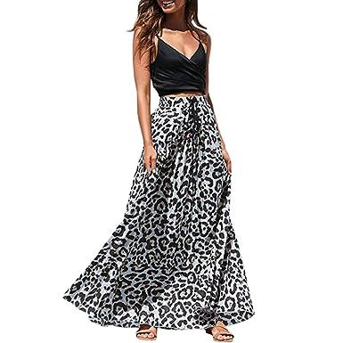 Disfraz Leopardo Mujer Falda Larga Elástica con Estampado de ...