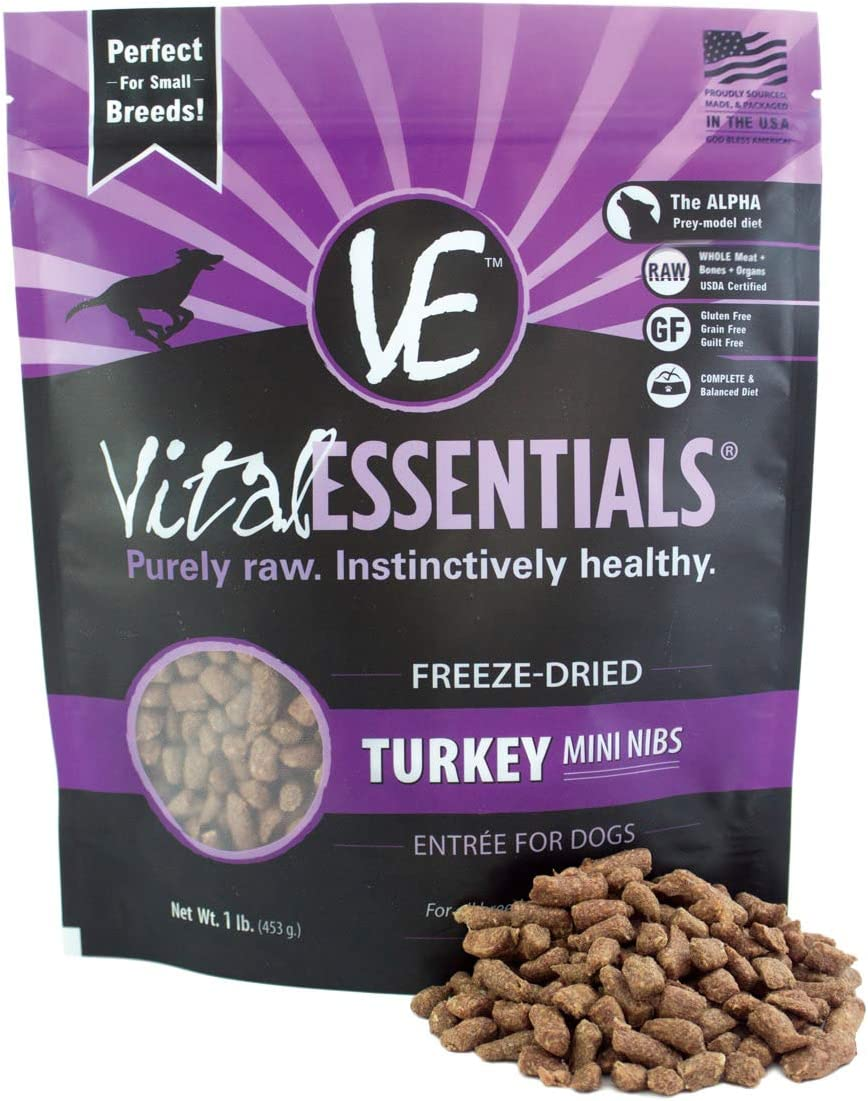 Vital Essentials Freeze-Dried Grain Free Limited Ingredient Mini Nibs Dog Food
