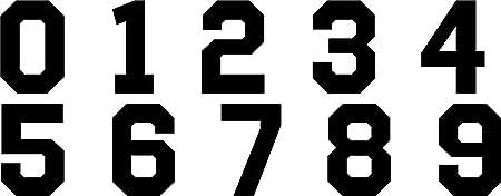 1-18 Set de football shirt Sports numéros Iron on//Presse à Chaud Vinyle transferts BR