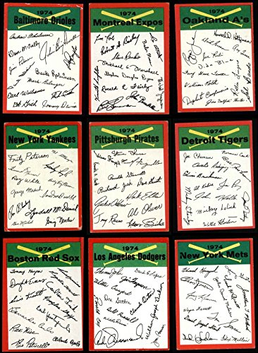 1974 Topps Baseball Card Red Checklist Complete Set 24 Cards ()