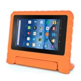 for Amazon Kindle Fire HD 7 2015, Internet Kids Shock Proof EVA Handle Case Cover (Orange)