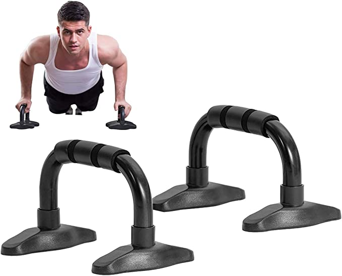 Xahpower Push Up Bars Strength Training Stands with Durable Steel Crossbar,Cushioned Foam Grip and Non-Slip Sturdy Structure Portable Push Up Handles for Men Women Floor Home Workout