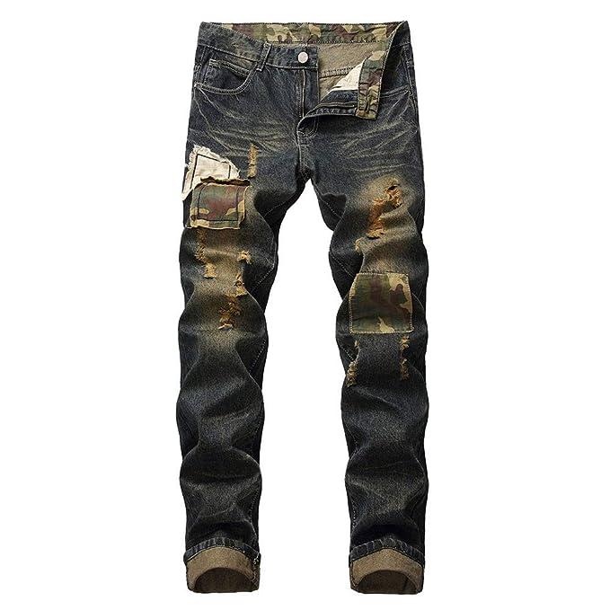 Pantalones Vaqueros Rotos Hombre, Jeans Pantalones Vaqueros ...