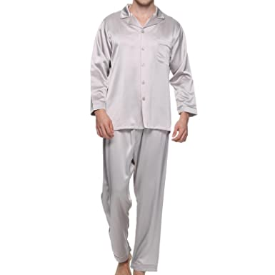 cba30d95fe55 Chesslyre 100 Mulberry Silk Pajamas Men Night Wear Pajamas Set 2 Piece-Tops    Pants