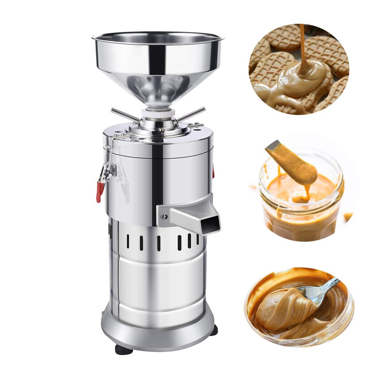 JIAN YA NA 220V Peanut Butter Maker Machine Commercial Peanut Butter Maker Sesame Butter Mill Grinding Machine 15kg/h 1100W by JIAN YA NA