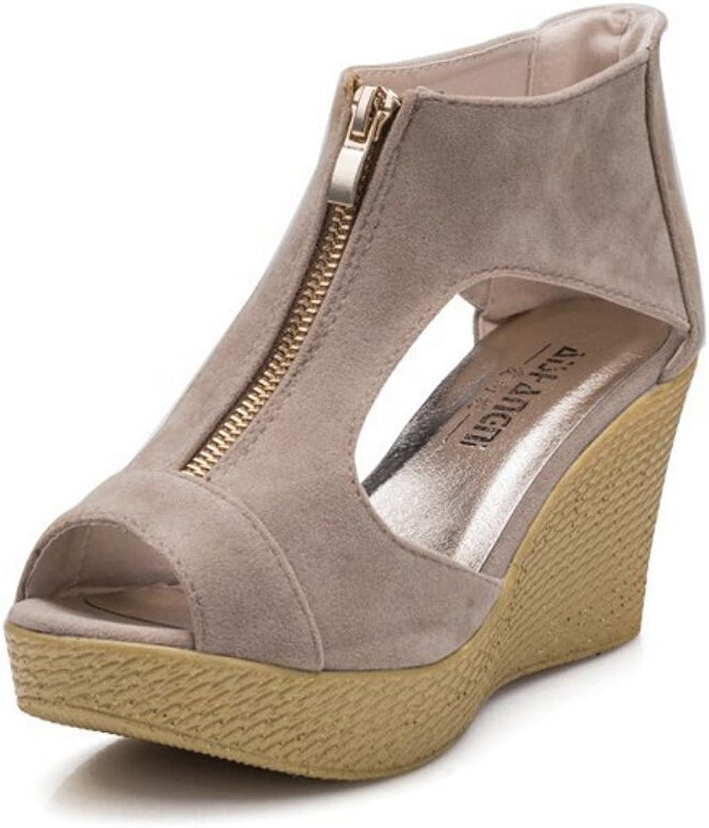 YUANTONG Womens Wedge Peep Toe Sandal